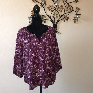 Floral Maroon Blouse